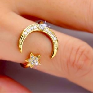 New💛925 Stamped Rose Gold Crescent 🌙 Ring